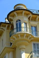 Turmerker an Jugendstilgebäude Aix-les-Bains