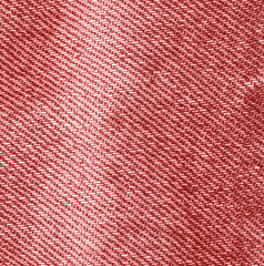 worn red denim fabric texture