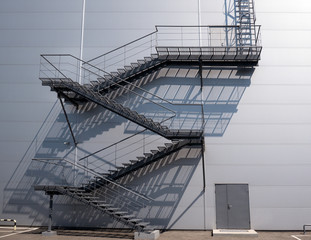 wall and staircase