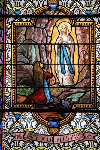 Poster Notre Dame de Lourdes