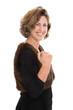 Erfolgreiche Frau isoliert: Karriere und Selbstbewusstsein