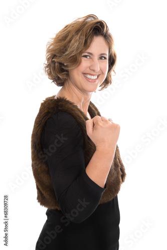 Erfolgreiche Frau isoliert: Karriere und Selbstbewusstsein - 68309728