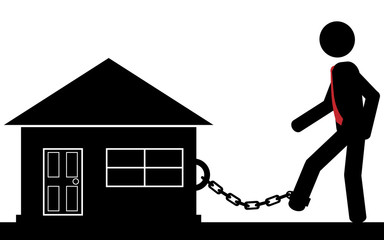 Chained to house