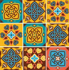 Traditional ceramic tiles patterns