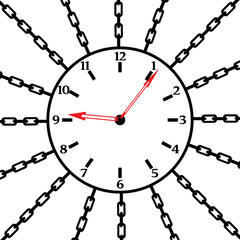 Watch in chains