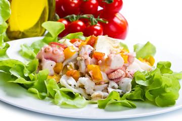 octopus salad with artichoke