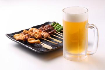 焼鳥とビール