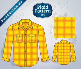 plaid shirt template