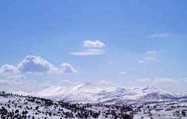 Landscape of snow mountain