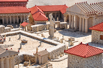 Miniature ancient Greek city