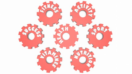 health and relative tags on gears