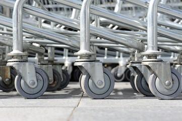 roller of shopping cart