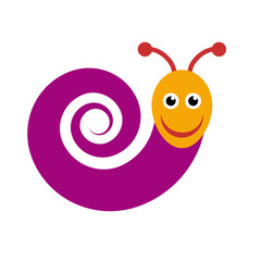 Vector sign snail