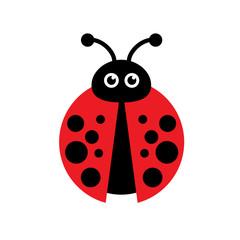 Vector sign ladybug