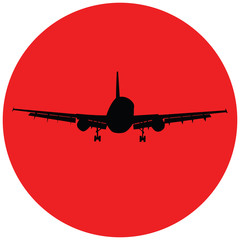Plane in the red circle. Raster