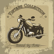 Vintage motorcycle poster - 68313341
