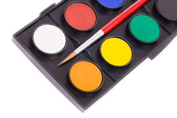 aquarelle (water paint) palette on white