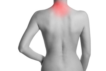 Woman suffering from backache