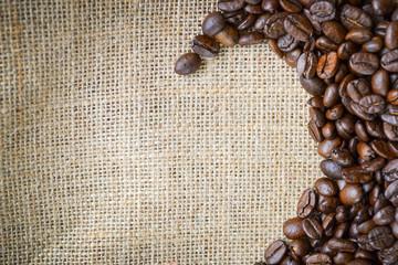 Kaffeebohnen auf Textur