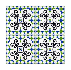Old tiles, detail of a classic ceramic tiles