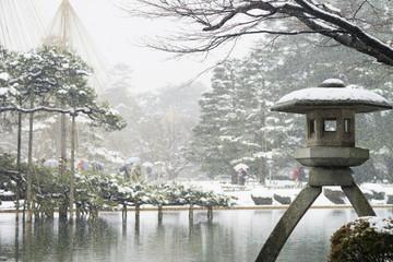 兼六園雪景色