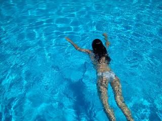 Baño en la piscina