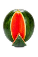 Aufgeschnittene Wassermelone isoliert