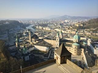 Salzburg roofs landscape