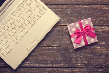 Laptop and chirstmas gifts