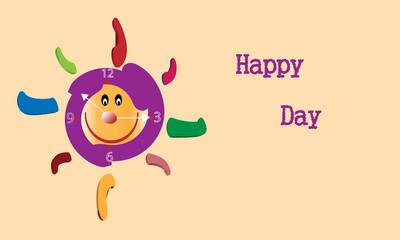 Reloj y Happy day