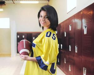 Football Fan in the Locker Room