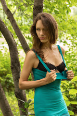 sexy girl in the forest