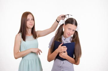 Teacher scolds student