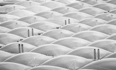 roof built with plastic bubbles