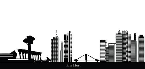 frankfurt german city skyline