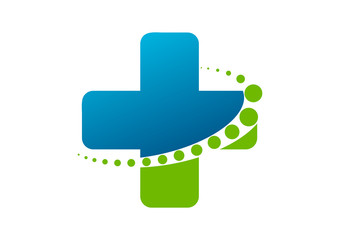 cross pharmacy logo abstract healthy spine, Chiropractic