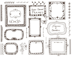 Hand - drawn elements for design