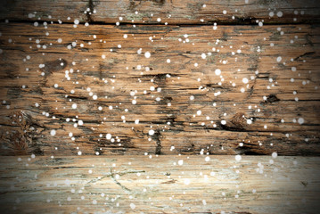 Wooden Texture with Snow