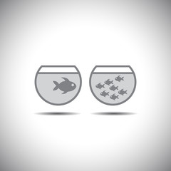 fish icon logo vector design