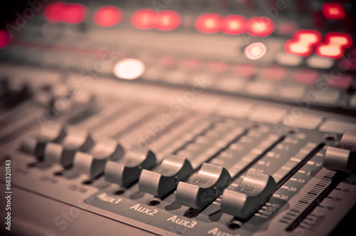 canvas print picture music mixer