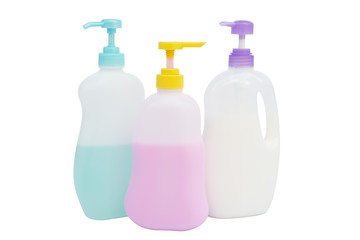 Liquid soap pump bottle isolated.