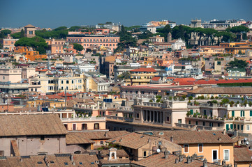 rome roofs view