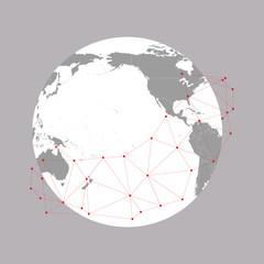 World globe Vector Illustration, background for communication