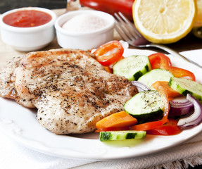 Turkey Breast Roasted with Vegetables