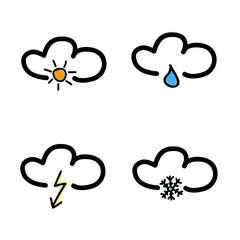 symbol for weather forecast vector illustration
