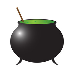 Halloween Witch Cauldron Silhouette