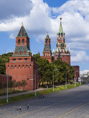 Moscow, Russia, on July 26, 2014. View of the Kremlin