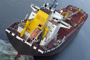Tanker auf dem Nord-Ostsee-Kanal in Kiel, Deutschland