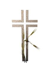 offenes Kreuz mit Ähren