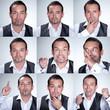 Collage von einem Geschäftsmann mit diversen Emotionen